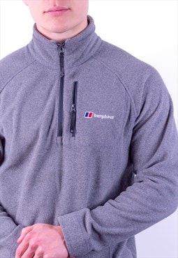 Vintage Berghaus 1/4 Zip Fleece Sweatshirt in Grey