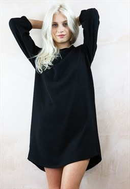 Relax Fit  Dress in Textured Black