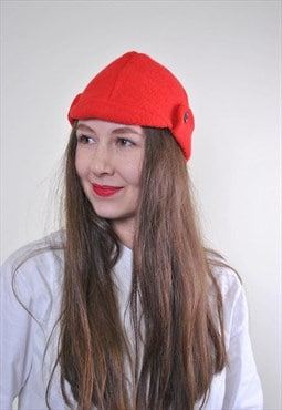 Woman red vintage party costume hat