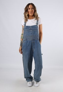 Denim Dungarees NEVADA Wide Tapered Leg UK 16 XL  (C92H)