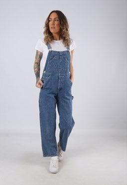 Denim Dungarees PETITE Wide Tapered Leg UK 10 (DK3H)