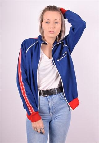 UMBRO WOMENS VINTAGE TRACKSUIT TOP JACKET MEDIUM BLUE 90'S