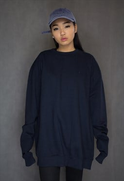Oversized Navy Jumper