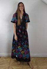 Vintage 70's Floral Maxi Dress