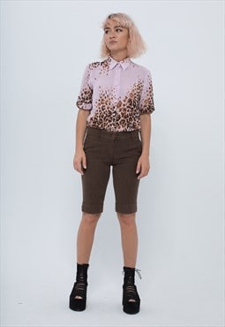 Brown Low Waisted Short Trousers