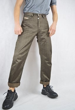 Vintage brown graphic classic DIESEL trousers