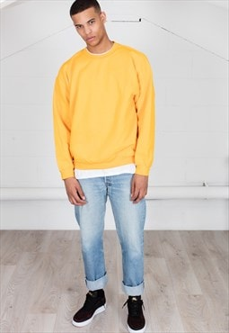 Cosmic Saint Mens Gold Yellow Sweatshirt