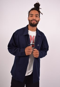 Vintage Champion Overshirt Navy Blue