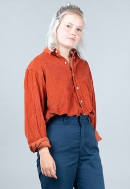Vintage Cord Orange Ralph Lauren Shirt Blouse