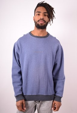 Calvin Klein Mens Vintage Sweatshirt Jumper XXL Blue 90s