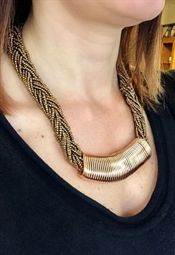 Gold Beads Chunky Necklace