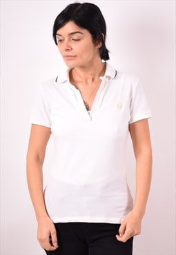 Fred Perry Womens Vintage Polo Shirt Large White 90s