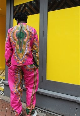 African Print Matching Suit - Festival Clothing - Wax Suit