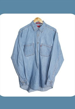 Vintage 90's Light Blue Levis Denim Shirt