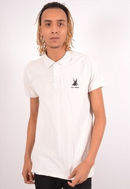 Vintage Helly Hansen Polo Shirt Slim Fit White