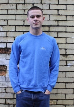 Vintage 1990s Blue Fruit Of The Loom Sweatshirt