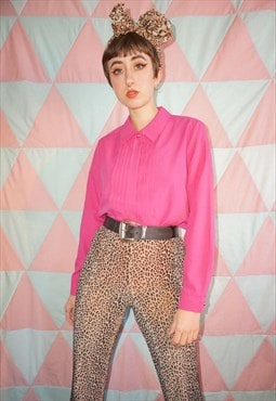 Vintage 90s Pink Pleated Shirt