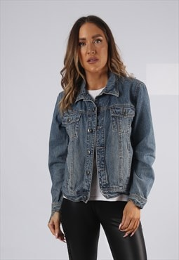 Vintage Denim Jacket UK 8 - 10 SMALL  (HP1R)