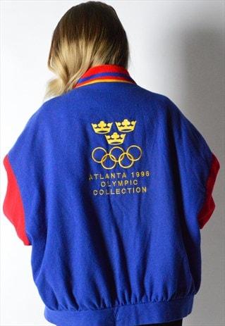 RARE VINTAGE 90S EMBROIDERED ATLANTA OLYMPIC VARSITY JACKET