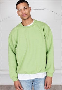 Cosmic Saint Mens Kiwi Green Sweatshirt