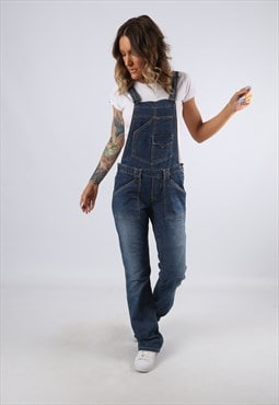 Denim Dungarees LEVIS Bootcut Legs UK 10 Small (C92B)