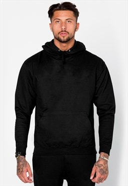 Personalised Plain Blank Staple Hoody - Black