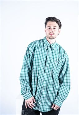 Tommy Hilfiger Vintage 1990s Green Checked Shirt