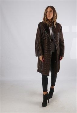 Vintage Sheepskin Suede Leather Shearling Coat Short (H4H)