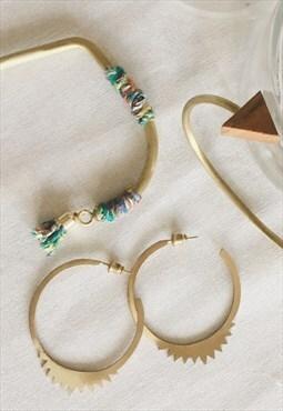 Sita earrings in brass