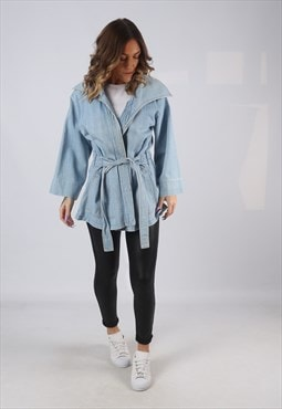 Denim Jacket Oversized FADED GLORY Longline UK 12  (CKCZ)