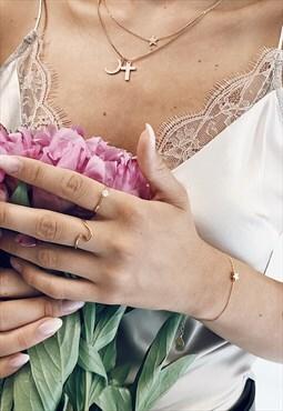 Filigree Star Bracelet Gold Plated Celestial Jewellery
