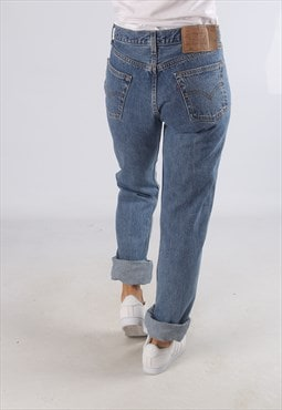 Vintage 501's LEVIS Denim Jeans High Waisted UK 10 (T4B)