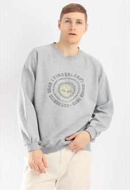 Vintage Timberland Sweatshirt Grey