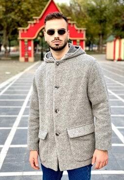 Vintage 90's Grey Cozy Coat