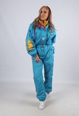 Vintage K-WAY Full Ski Suit Snow TALL UK 12 - 14  (ACR)