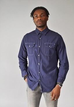 Vintage Wrangler Denim Shirt Blue