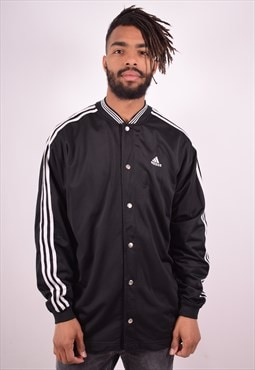 Adidas Mens Vintage Varsity Jacket Medium Black 90s