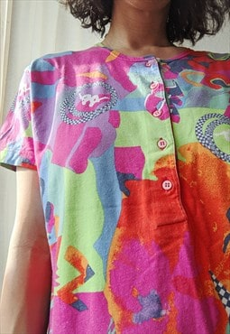 Vintage Kappa short sleeves crazy pattern tshirt