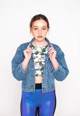 'The Gap' Cropped Vintage Denim Jacket