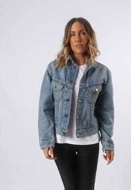 LEE Denim Jacket Fitted UK 12 - 14 (GF4Q)
