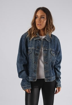 Vintage Denim Jacket Oversized Fitted UK 16 XL (JR3G)