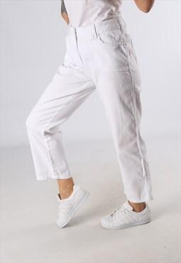 Vintage Mid - High Waisted Denim Jeans Wide 3/4 Leg  (DD4H)