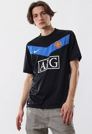 huge selection of f86d1 cca26 Vintage Mens NIKE Manchester United Ashley Top Shirt Jersey