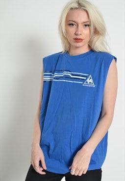 Vintage Le Coq Sportif Vest Top Blue