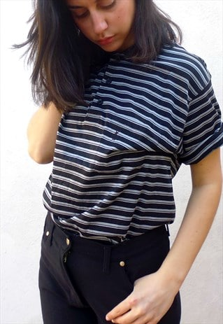YVES SAINT LAURENT STRIPED POLO