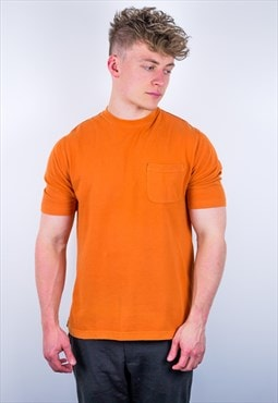Vintage Timberland Organic Cotton T-Shirt in Orange