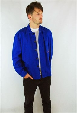 Thick French Cotton Chore Work Jackets Cobalt Blue