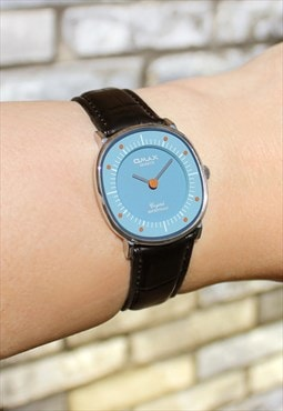 Omax Retro Blue Watch