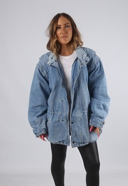 Vintage Denim Jacket Oversized Bomber UK 16 XL (H4W)