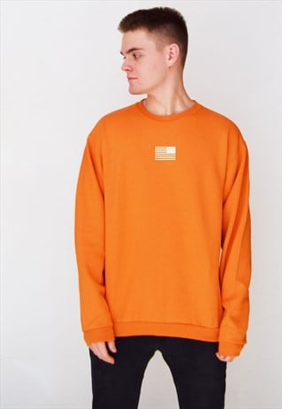 ORANGE AMERICA (WHITE) SWEATSHIRT